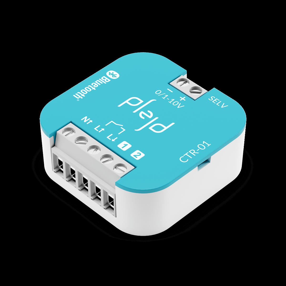 PLEJD Controller används för reläbrytning eller med ingång för 0-10V eller 1-10V såsom LED-drivdon och HF-don.