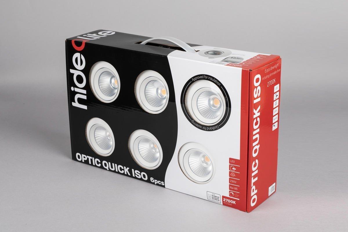 Optik Quick Iso 2700K Vit 6-PACK