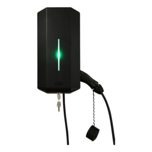 Garo GLB Svart Laddbox 22kW med fast kabel
